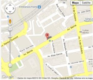 Mapa localização Edifício ID - FCSH